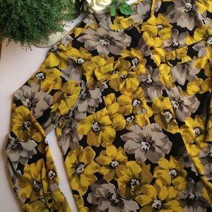Who What Wear Floral Print Blouse Size 2X EUC